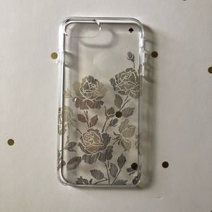 Kate Spade iPhone 8 Plus Gold Floral Case
